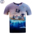 Mr.1991 marca Pirata Gato 3D t-shirt para niños y niñas Nuevo 2017 estilo de verano adolescentes camiseta de big kids 11-20 años encabeza la venta Caliente A40