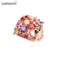 D Story 2014 Newest Arrival 18K Rose Gold Plated Wedding Ring AAA Zircon Stone Ring For