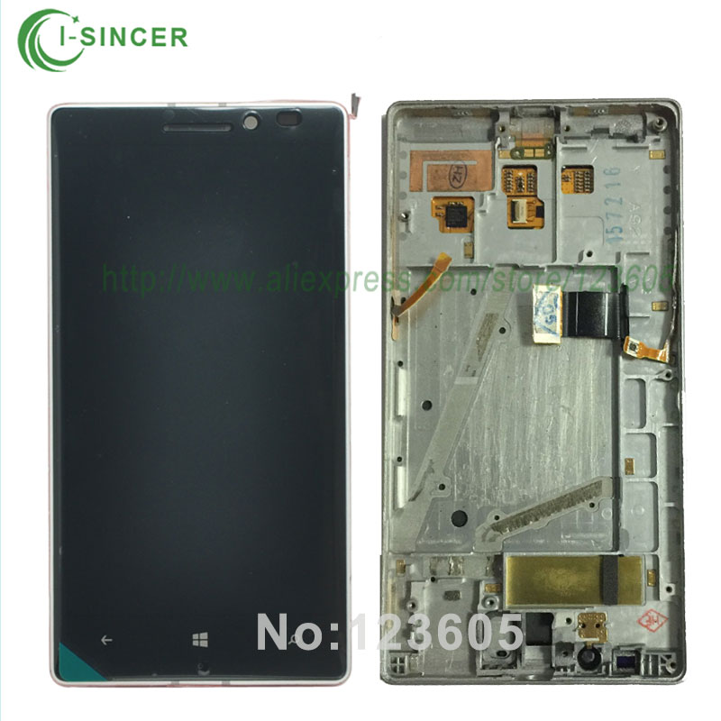 5/PCS Black/Silver mobile phone LCD Display with Touch Screen Digitizer with frame Assembly For Nokia Lumia 930