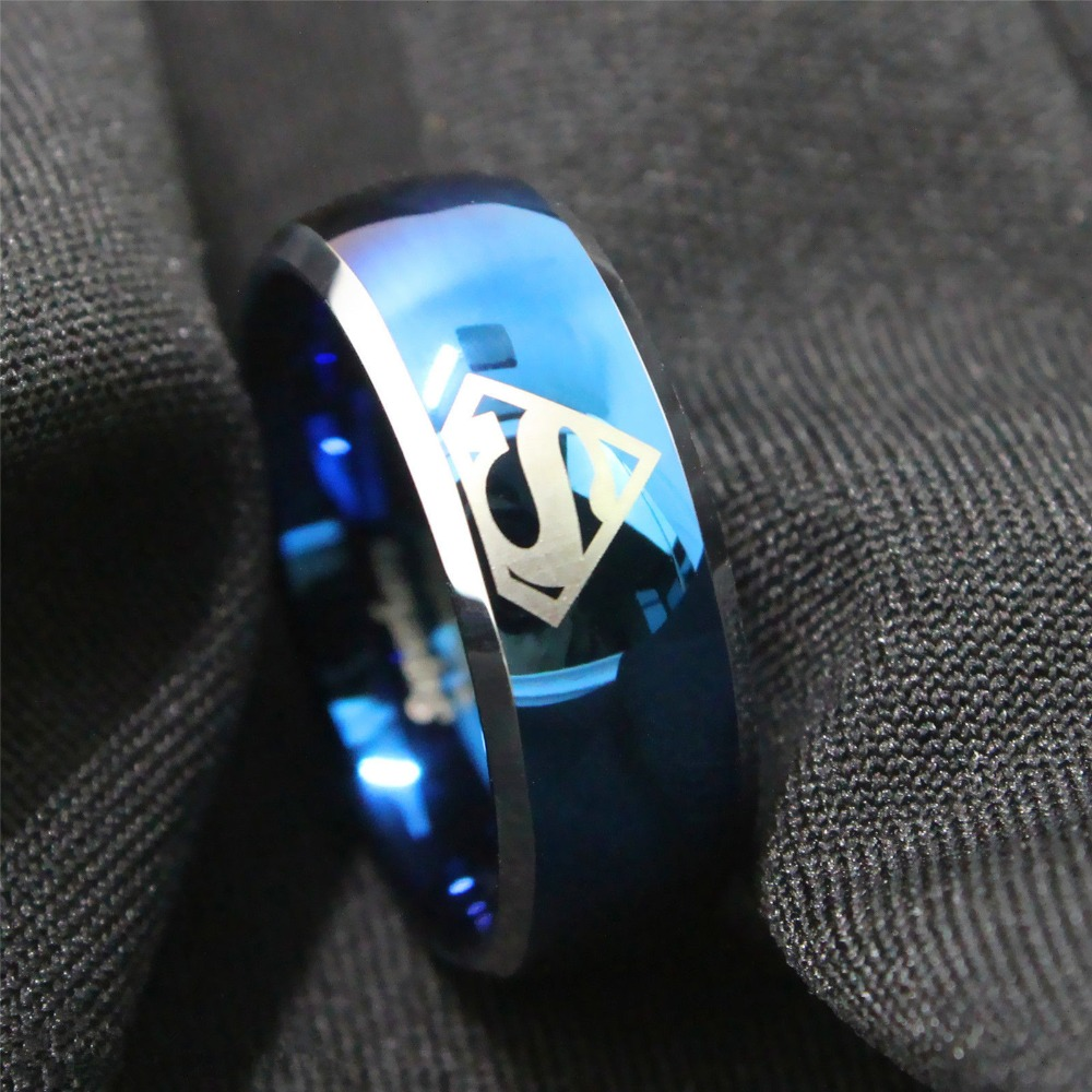 Free Shipping New Blue superman 8Mm black blue Laser superhero