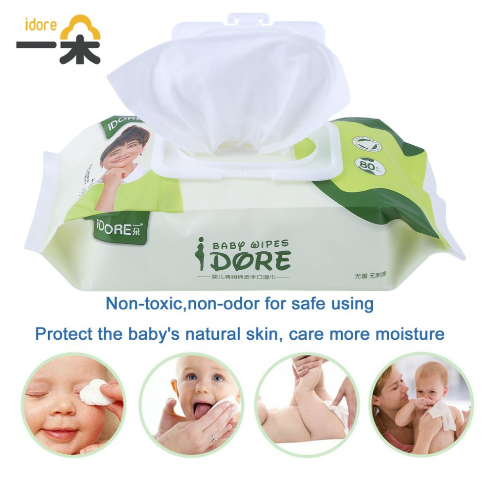 Portable Wet Tissue Travel Baby Wipes Dispenser Deep Purification Moist Soft Toddlers We ...