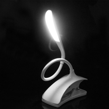 Flexible LED Reading Light Rechargeable Clip-on Bed Table Desk Lamp Study Beside