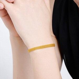 Image 5 - 24K Reinem Gold Armband Echt 999 Solid Gold Armreif Gehobenen Schöne Schmetterling Romantische Trendy Klassische Schmuck Heißer Verkauf Neue 2020
