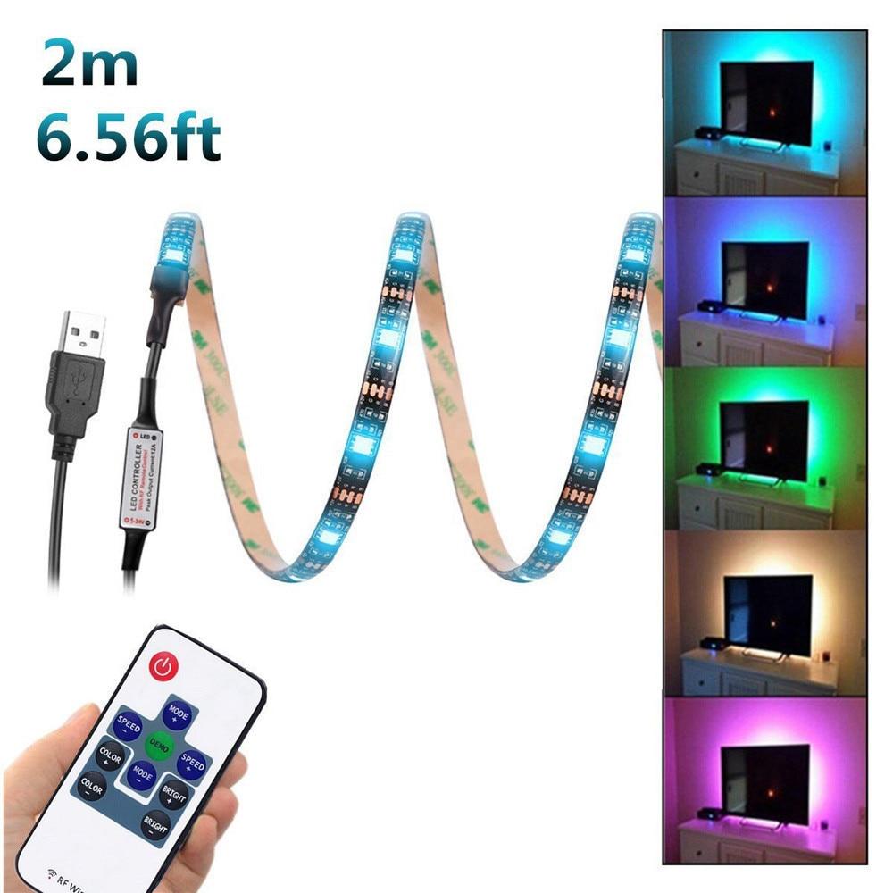 Home Living Room LED Light 200CM USB LED Strip Light TV ...