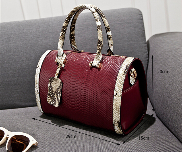 2016 Crocodile Snake Skin Women Handbag Fashion Designer Brand High Quality Aligator Shoulder Bags Ladies Tote Bag B774