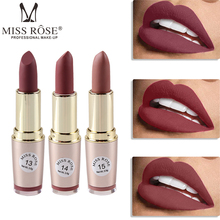 Lip gloss set lipstick makeup color waterproof matte MISS ROSE cosmetics sale products nutrition lasting