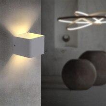 110 v 220 3 w alüminyum Led duvar lambası işık fikstürü Arandela Lamparas De Pared Decoracao Quarto aplik Lamba 02