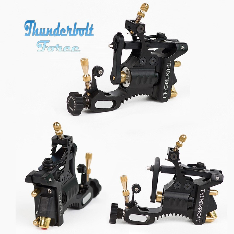 Rotary Tattoo Machine New Professional Thunderbolt Force   Shader&Liner Rotary Tattoo Gun Supply Black Free Shipping light weight rotary tattoo machine 2nd stealth machine gun alloy 7 colors assroted liner shader box free shipping