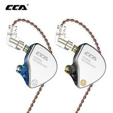 CCA CA4 1BA+1DD Hybrid In Ear Earphone HIFI Monitor Sports Running Stage IEM 2 Drive Unit Headset Detachable 2Pin Cable CCA C10