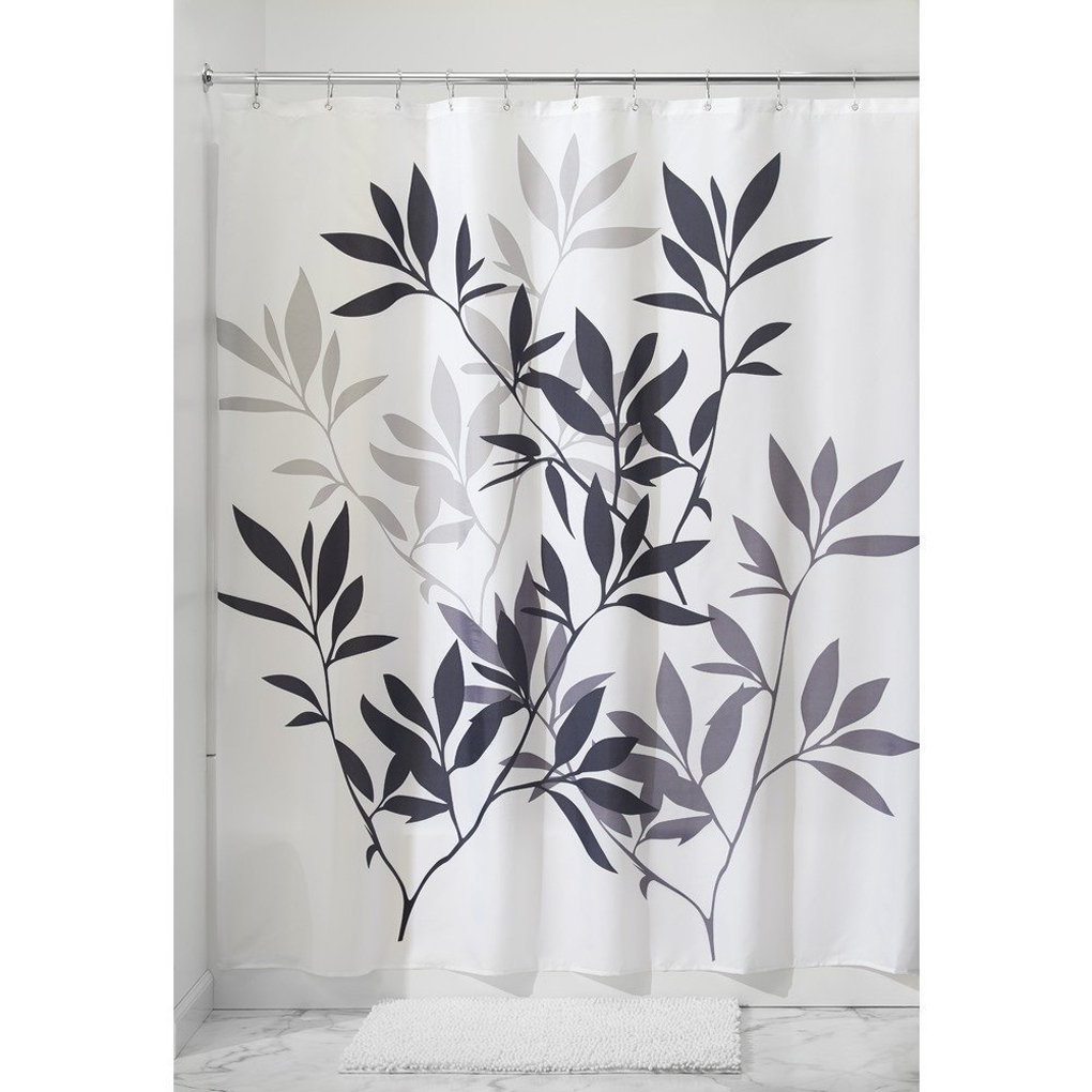 Leaf Printing Waterproof Polyester Fabric Shower Curtain Partition Curtain