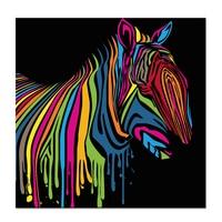 Visual Art Decor Rainbow Zebra Poster Canvas Printing Animal Picture Printed Canvas Art Decor Fashion Canvas Painting Home Decor