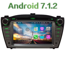 "7"" Android 7.1.2 2GB RAM Quad Core 4G WiFi Multi Car DVD Player Radio Stereo GPS Navi Screen For Hyundai Tucson IX35 2009-2015"