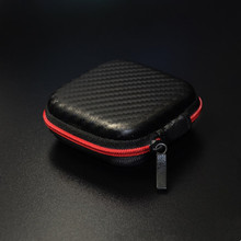 KZ Leather-based Headphone Storage Case Earphone Carrying Bag Organizer Earbuds Protecting Field Holder Zipper Pouch Equipment Baggage