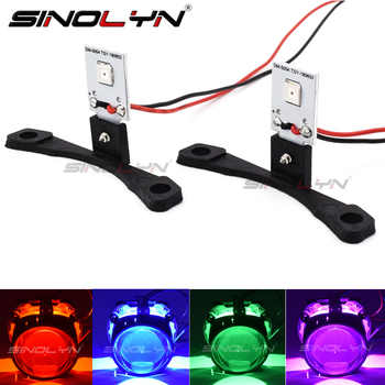 Car Styling LED Devil Eyes Demon Evil Eye DRL LED Module For Headlight Projector Lens Retrofit DIY Red Blue Yellow White Green - DISCOUNT ITEM  26% OFF All Category