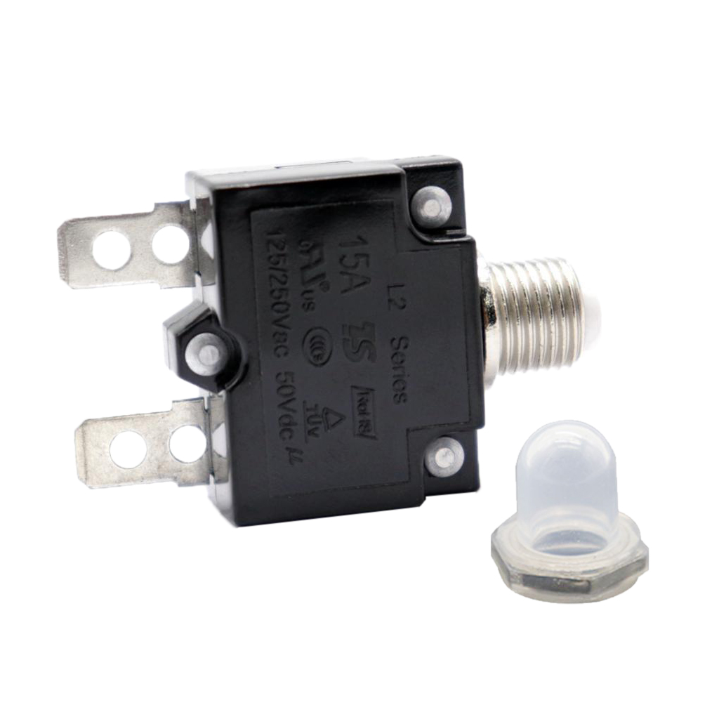 Image 2 - 1 Pcs 15A Circuit Breaker With Push Button Resettable & Transparent Waterproof Cap For Car Truck Boat Etc DC 50V Or AC 125/250V-in Truck Accessories from Automobiles & Motorcycles
