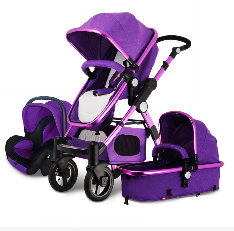 Purple Baby Car Seat And Stroller