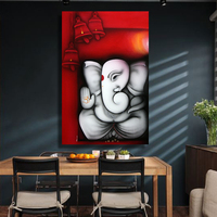 handpainted oil painting Canvas Painting Ganesha Buddha Wall Art Wall Pictures for Living Room no Frame Decorative Pictures