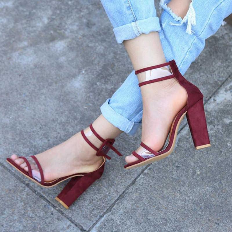 Plardin/2019 г. летние босоножки большого размера в европейском и ультравысоком стиле, с вырезами, на толстой подошве Женская обувь в римском стиле с ремешком