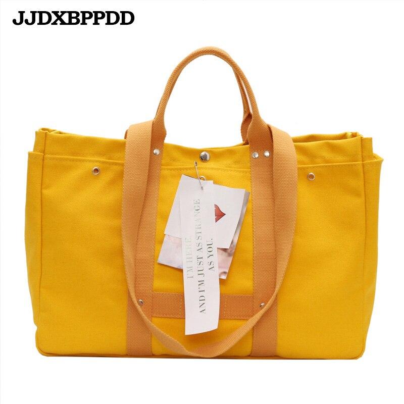 3a3e608799bc6 JJDXBPPDD Frauen Casual Leinwand Handtaschen Schulter Taschen Umwelt  freundliche Tragbare Solide Student Taschen Einfache Einkaufstasche Tasche