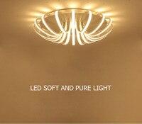 Simple Creative Circular Ceiling light Lamp White Branch Acrylic novelty lighting With LED bulbs Bedroom Restaurant Lighting