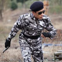 2016 Outdoor Army Men Tactical Camouflage Military Uniform Army Combat Suit Woodland Camouflage Jacket Pants 4xl
