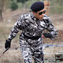 2016 Outdoor Army Men Tactical Camouflage Military Uniform Combat Suit Woodland Jacket + Pants 4xl
