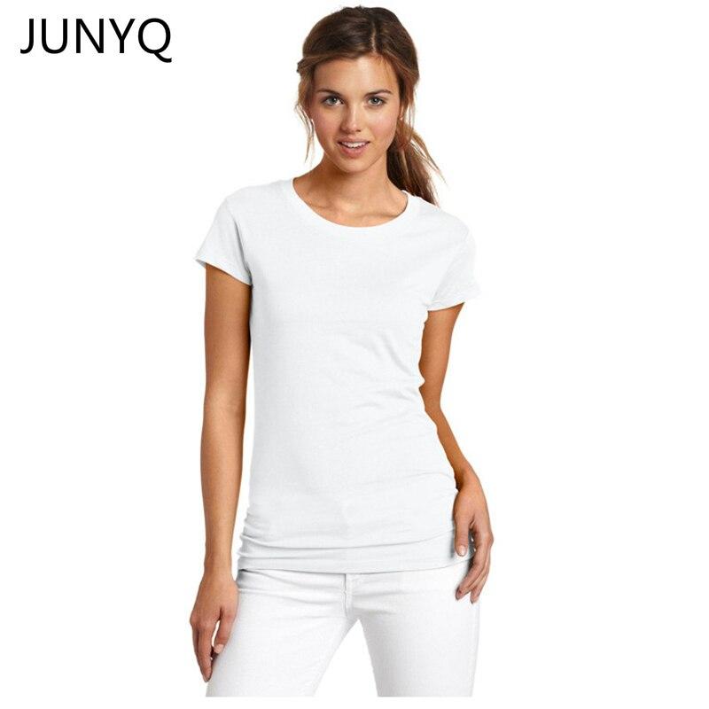 0034d10d85 2018 verano puro 100% algodón de manga corta de las mujeres bottoming La  camiseta colorea las camisetas femeninas envío gratis