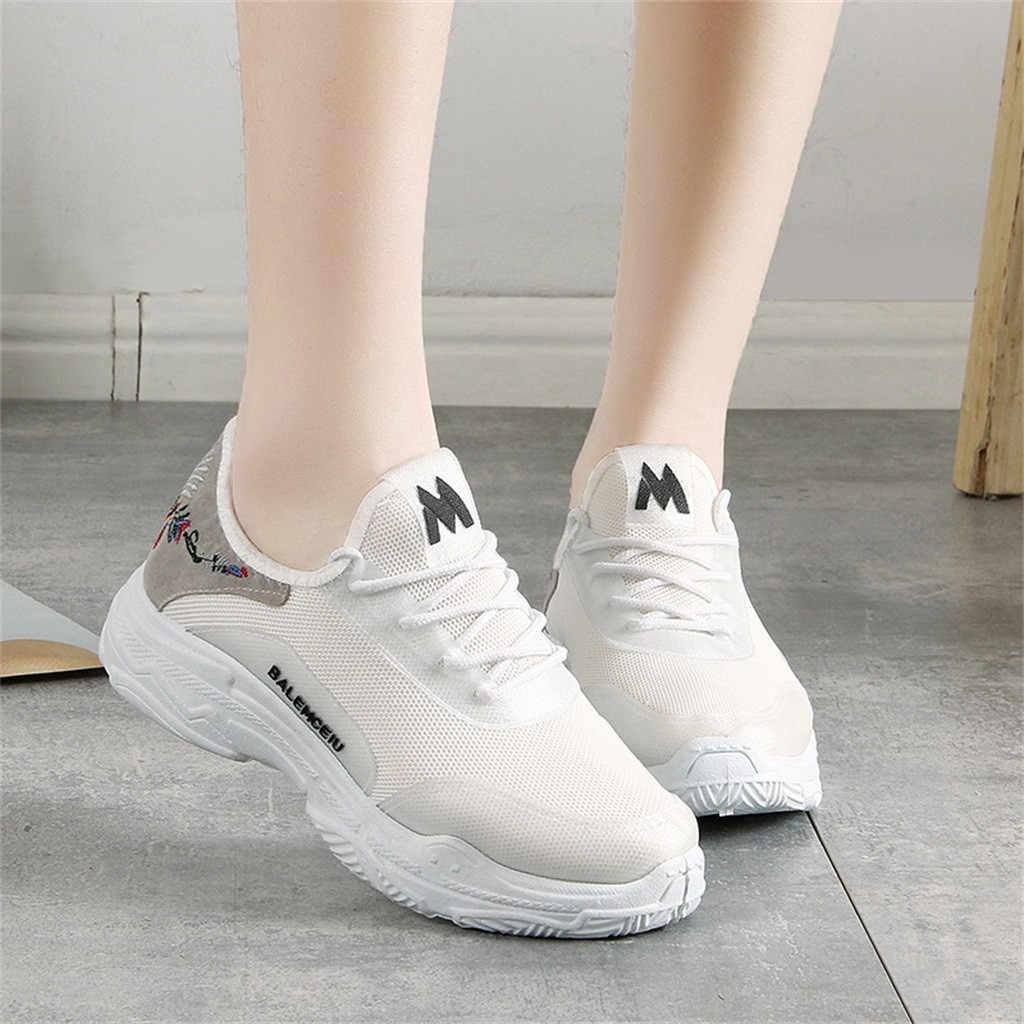Schoenen Water man vrouw Slippers vrouwen Ademend Mesh Loopschoenen Borduren Ronde Kop Strap Sneakers Sport Schoenen