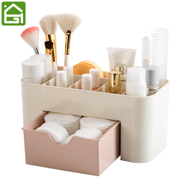 Cosmetic Jewelry Organizer Office Storage Drawer Desk Makeup Case Plastic Brush Box Lipstick Remote Control