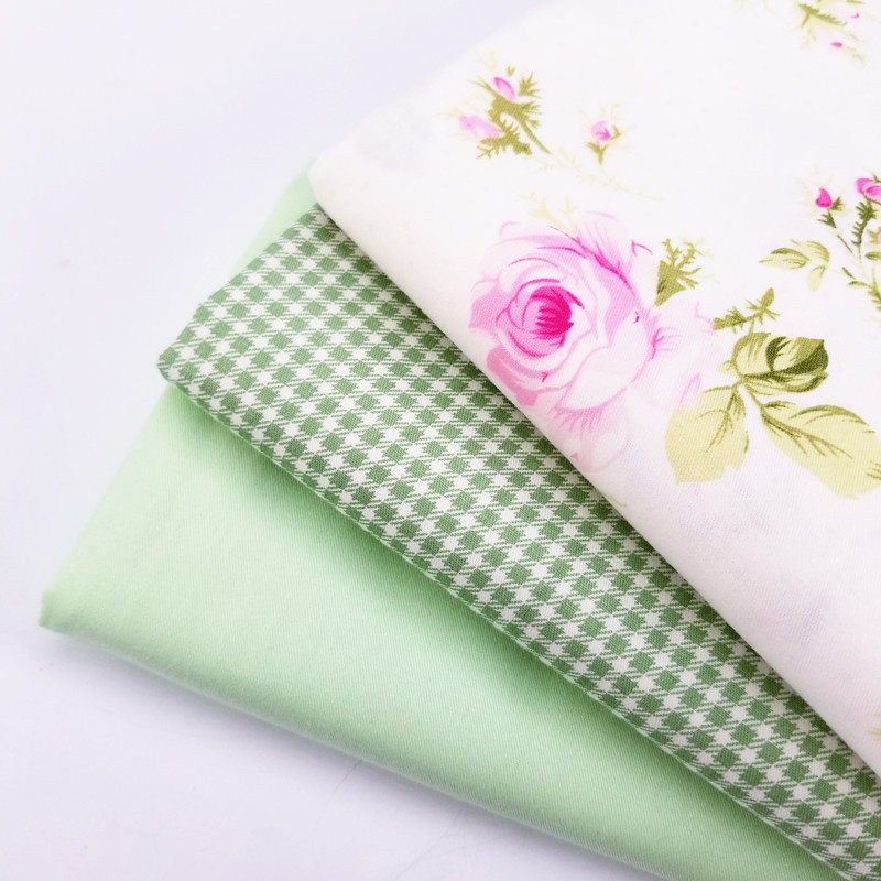 Floral/Plaid /Green Printed Cotton Twill Patchwork Fabric DIY Sewing Material High Quality Body-Friendly Soft Cloth