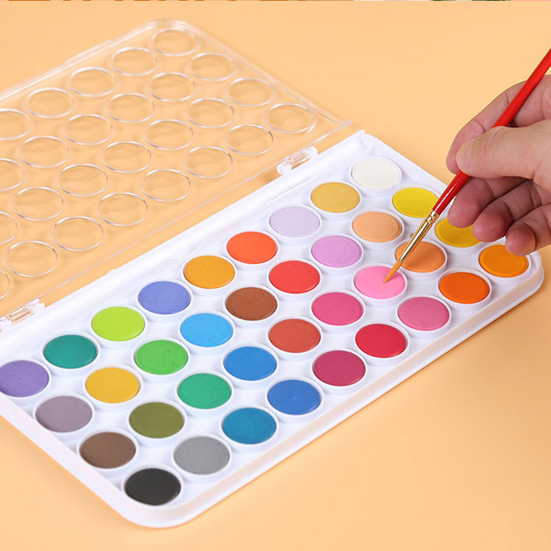 12/16/24/28/36 Colors Solid Waterolor Paint Set Bright Color Portable Watercolor Pigment Set For Art Supplies Drawing Painting набор для полива gardena flex 1 2