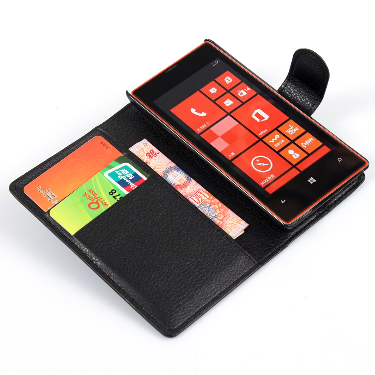 US $3 4 30% OFF|Wallet Flip Leather Case for Nokia Lumia 520 521 525 526  N520 520T Flame Leather back Cover case with Stand Etui Coque funda>-in  Flip