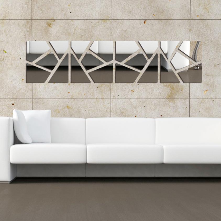 Home Decor 4Pcs a Set DIY 3D Acrylic Mirror Decal Wall Sticker Home Decor Removable wall sticker Home Deco mirror AU1
