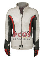 White Version~ Soldier 76 Cosplay Costume Jacket / Coat & Glove mp003327