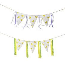 Banana Pennant Flag Party Decoration colorful Ribbon Banner Birthday  Baby Shower Chair Nursery Garland