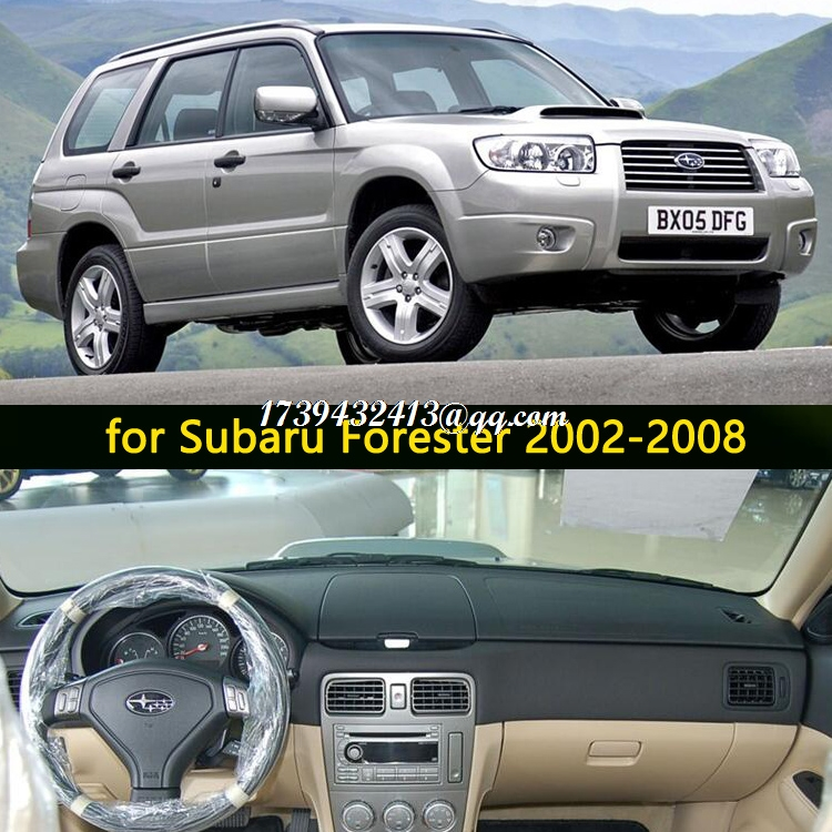 car dashmats car-styling accessories dashboard cover for subaru <font><b>forester</b></font> sg 2002 2003 2004 2005 2006 2007 2008