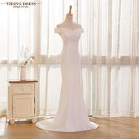 Real Photos White Beige Elegant Lace Sexy Mermaid Wedding Dresses 2016 Vestidos De Noiva Robe De