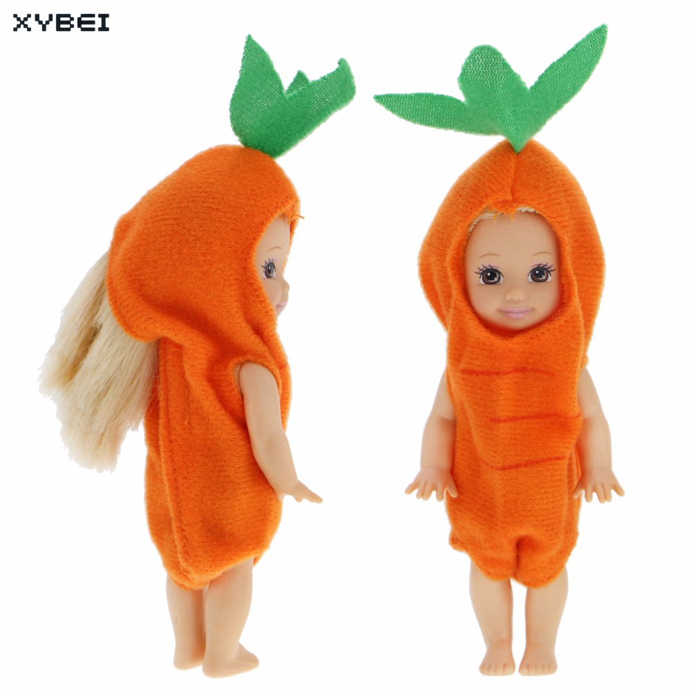 Fashion Mini Outfit Daily Casual Wear Orange Jumpsuits Little Cute Costume Clothes For Barbie Sister Kelly Size Doll Accessories