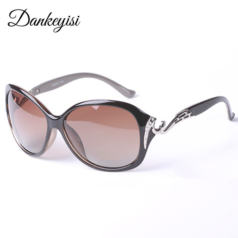 DANKEYISI Hot Polarized Solglasögon Kvinnors Solglasögon UV400 Protection Mode Solglasögon Med Rhinestone Sun Glasses Kvinna 2018