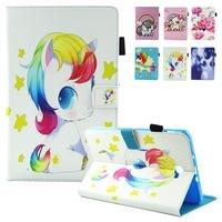 For Coque Samsung Galaxy Tab A6 10 1 Case SM T585 Kid Unicorn Cartoon PU Leather