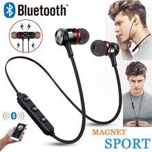 Teamyo Bluetooth наушники магнитные наушники C312 Беспроводная Спортивная гарнитура бас наушники для прослушивания музыки микрофон гарнитура для iphone Xiaomi