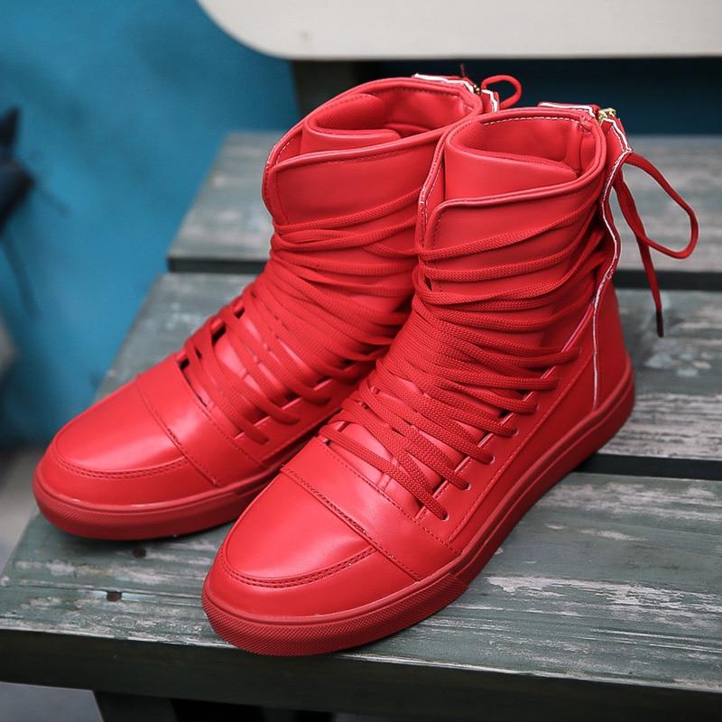 Zapatos rojos de otoño casual para hombre LEwVwhyYx