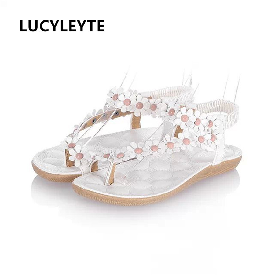 2018 summer new flat with female sandals clip feet toe broken flowers flat shoes Korean foreign trade women sandals new arrival background fundo plant flowers fence 7 feet length with 5 feet width backgrounds lk 2802