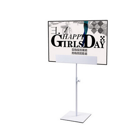 Free Shipping Metal Table White Paint Poster Stand Poster Display Banner Stand Sign Stand A4 A3 Tabletop Display pop metal poster sign paper display advertising stand adjustable h 30to50cm in black surface catophoresis good quality 10 sets