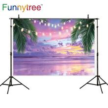 Funnytree backdrop for photographic studio colorful sky beach sea summer party decoration background photocall photobooth