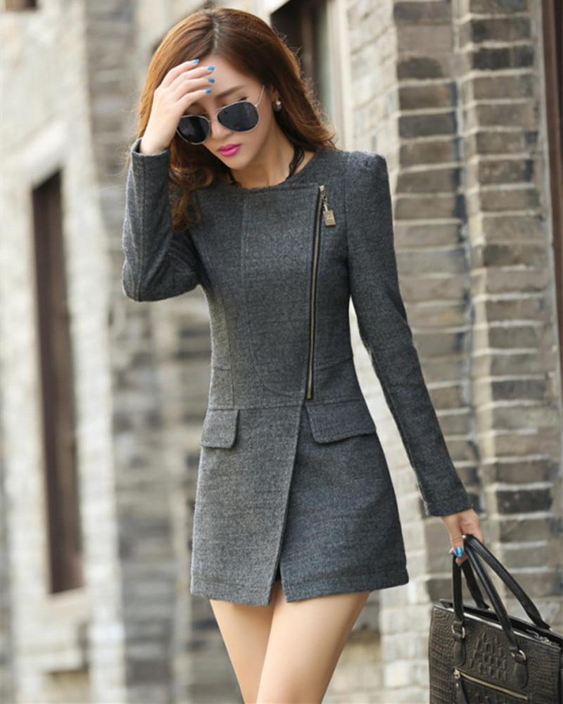 Abrigos de invierno para mujer 2015 lana moda de cachemira