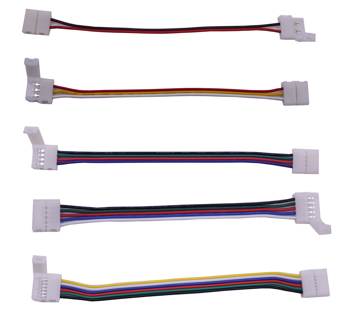 2pin <font><b>3pin</b></font> <font><b>4pin</b></font> 5pin 6pin led wire connector Electronic Connector Wire <font><b>cable</b></font> for led strip light tape white cct <font><b>RGB</b></font> RGBW RGBCCT image