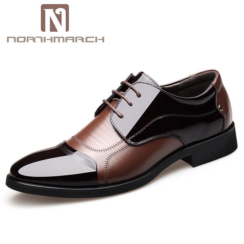 NORTHMARCH printemps mode Oxford chaussures pour hommes d'affaires formelles hommes chaussures en cuir doux décontracté respirant chaussures plates hommes Derbies