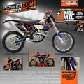 Custom Team Graphics & Backgrounds Decals 3M Customized Stickers Decals Kits For KTM SX SXF EXC125 250 450 525 2011-17