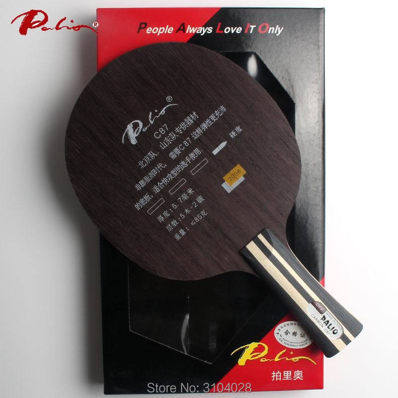 Palio Official C-87 C87 Table Tennis Balde Carbon Balde Fast Attack With Loop Original Packing Made In China For Racket Sports